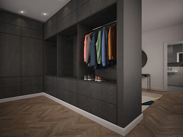 Visualisierung eines Ankleidezimmers