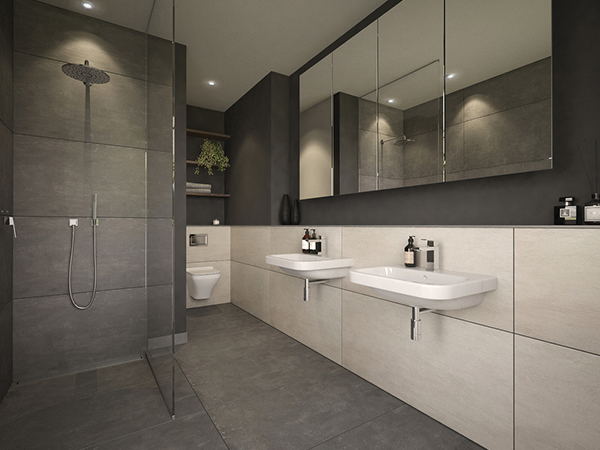 Visualisierung eines Badezimmers