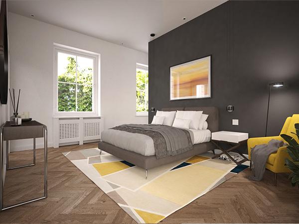 Visualisierung eines Schlafzimmers